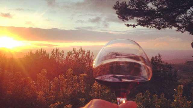 De superbes couchés de soleil, à accompagner d'un verre de Bandol...