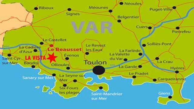 Dans les vignes à proximité de la mer,  de la Cadière d'Azur et du Castellet...